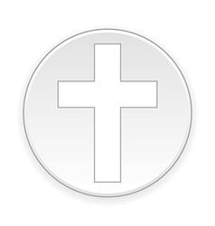 Religious cross button vector