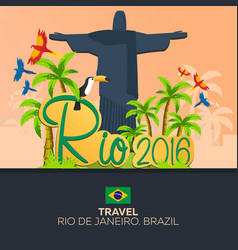 Rio 2016 games travel in brasil south america vector