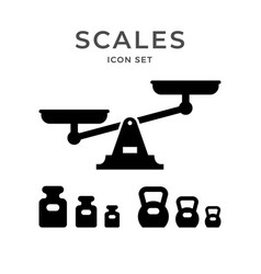 set icons scales and weights vector image