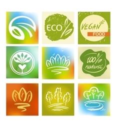 Set of logos avatars for natural environmentally vector