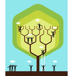 Social media networks business tree vector image
