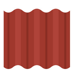 steel colored goffered plate for roof icon vector image
