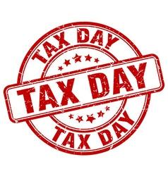 Tax day red grunge round vintage rubber stamp vector