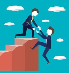 teamwork for achievement success concept vector image