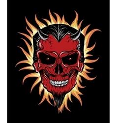 Terrible head devil vector