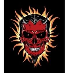 Terrible head of devil vector image