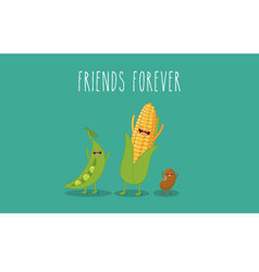 vegetables corn vector image