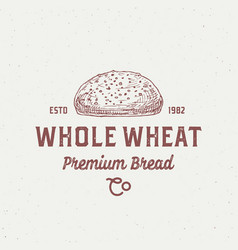 Whole wheat bread abstract sign symbol or logo vector