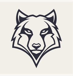 wolf mascot icon vector image