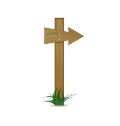 wooden arrow cartoon sign vector image