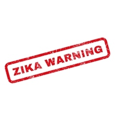 Zika Warning Rubber Stamp vector