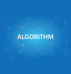 algorithm white text with blue vector image
