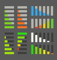 Charge bar collection Application design elements vector image vector image