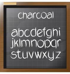 Digital charcoal hand drawn alphabet vector image vector image