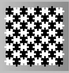 jigsaw puzzle seamless background mosaic of black vector image vector image