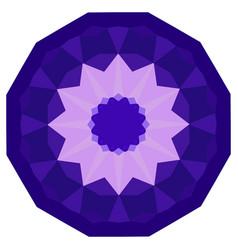 Round purple geometric backdrop vector