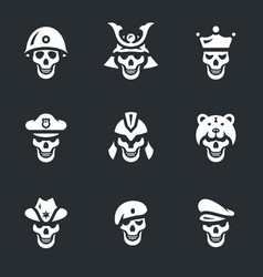 set of skeletons icons vector image vector image