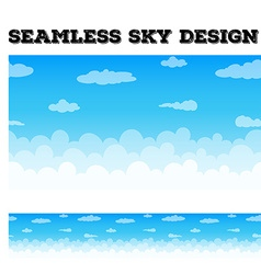 Clouds floating in the blue sky vector image