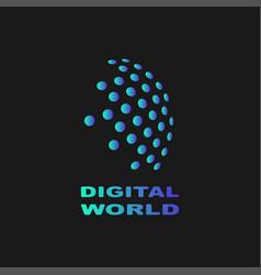 digital world abstract symbol technology vector image