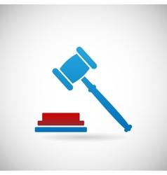 Judgment verdict symbol judge gavel icon template vector