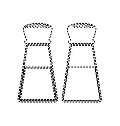 salt and pepper sign black dashed icon on vector image
