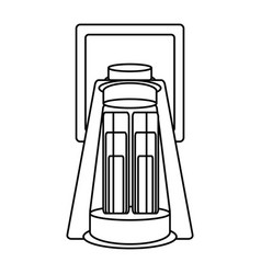 camping light lamp vector image