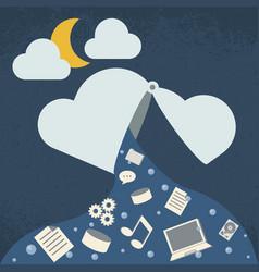 data leak cloud computing technology vector image vector image