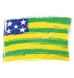 Grunge Goias flag vector image