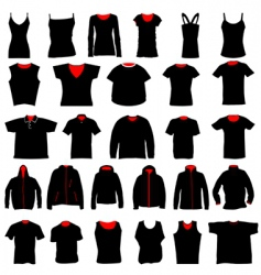 shirts collection vector image vector image