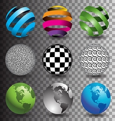 Transparent BG Spheres vector image vector image