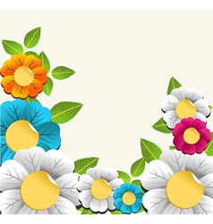 Colorful nice flower background vector image vector image