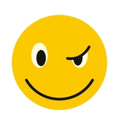 Devious smiley icon flat style vector image vector image