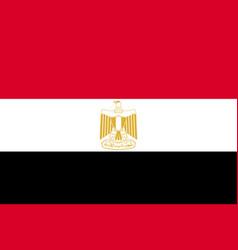 egypt national current flag vector image