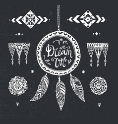 hand drawn tribal patterns with stroke vector image