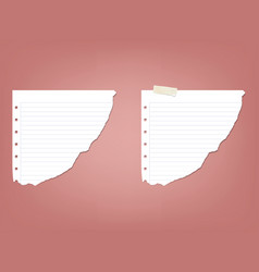 sheet page in a strip of notepad notebook vector image vector image