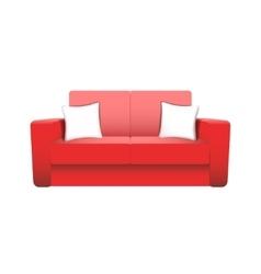 sofa isolated on white background vector image