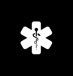 star of life icon flat design vector image vector image