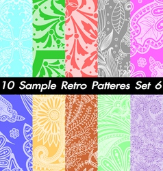 10 Retro Patterns Textures Set 6 vector