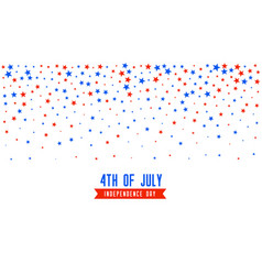 4th july background with falling stars confetti vector
