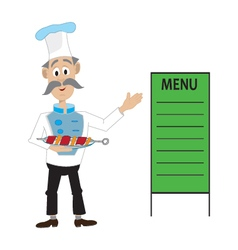 a chef barbecue menu vector image