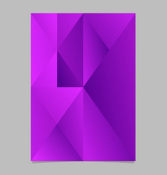 Abstract violet minimal gradient triangle page vector
