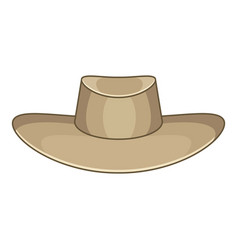 Akubra icon cartoon style vector