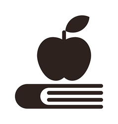 Apple on a book - Education symbol vector image