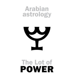 astrology lot of power vector image