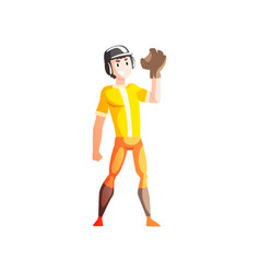 baseball catcher player male sportsman character vector image
