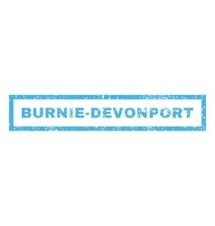 Burnie-Devonport Rubber Stamp vector image