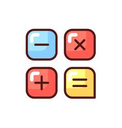 Calculator app rgb color icon vector