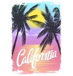 California beach t-shirt print vector