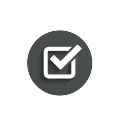 Check simple icon approved tick sign vector