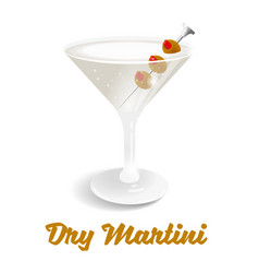 cocktail dry martini vector image